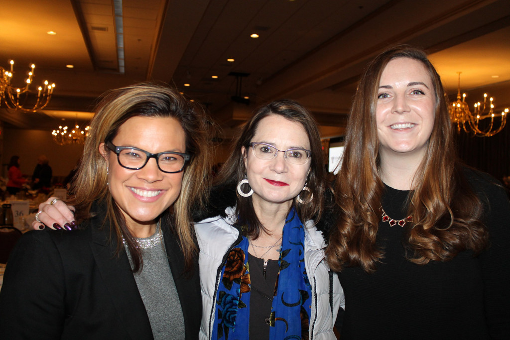 Maili Lafayette, founder of EmpowerME and Beachology, with Mary Allen Lindemann, owner of Coffee By Design, and Annaliese Lafayette, general manager of Holiday Inn By The Bay, turned out to support the Women's Leadership Institute.