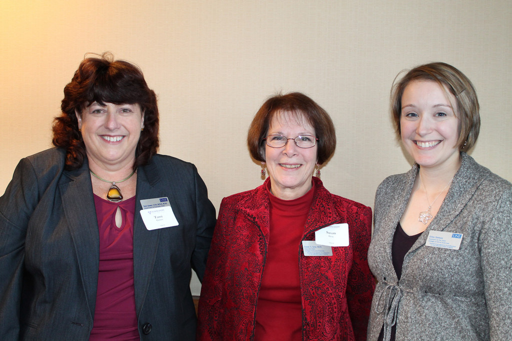 Colleagues Tami Gower, Susan Gray and Erinn Stetson of the University of New England at the event which raised money for the Olympia Snowe Women's Leadership Institute.