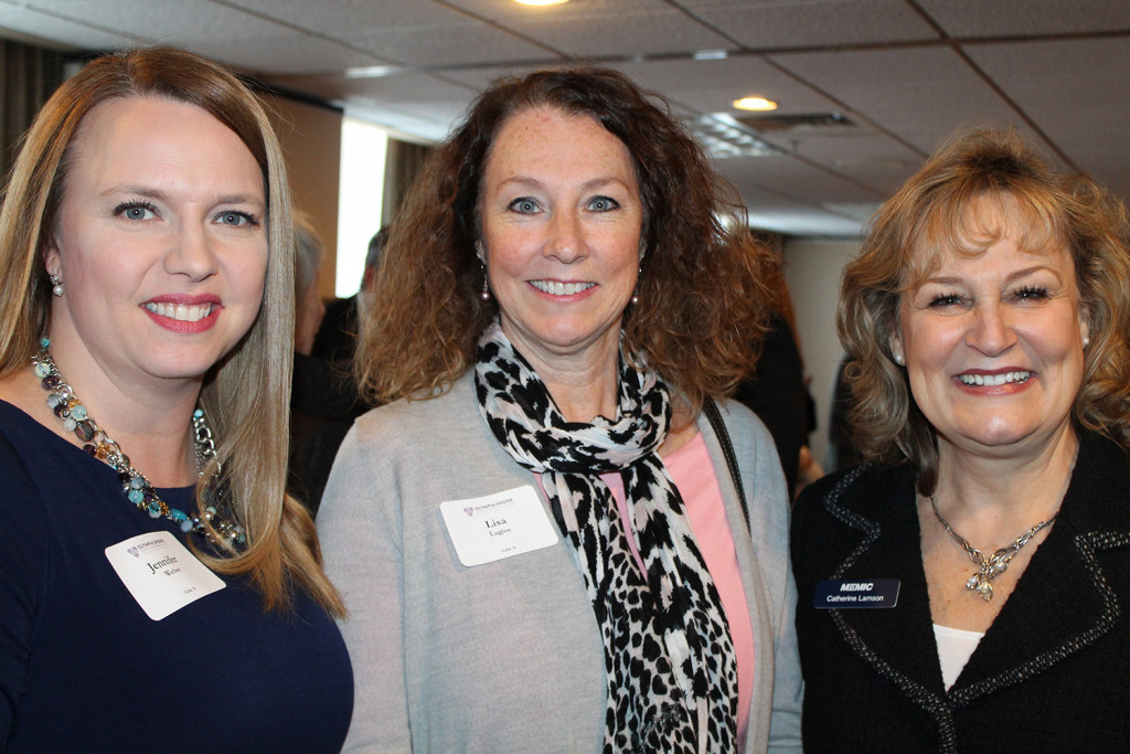 Anthem colleagues Jennifer Weber and Lisa Lagios join Catherine Lamson, Olympia's Leader Advisor and senior vice president at MEMIC.