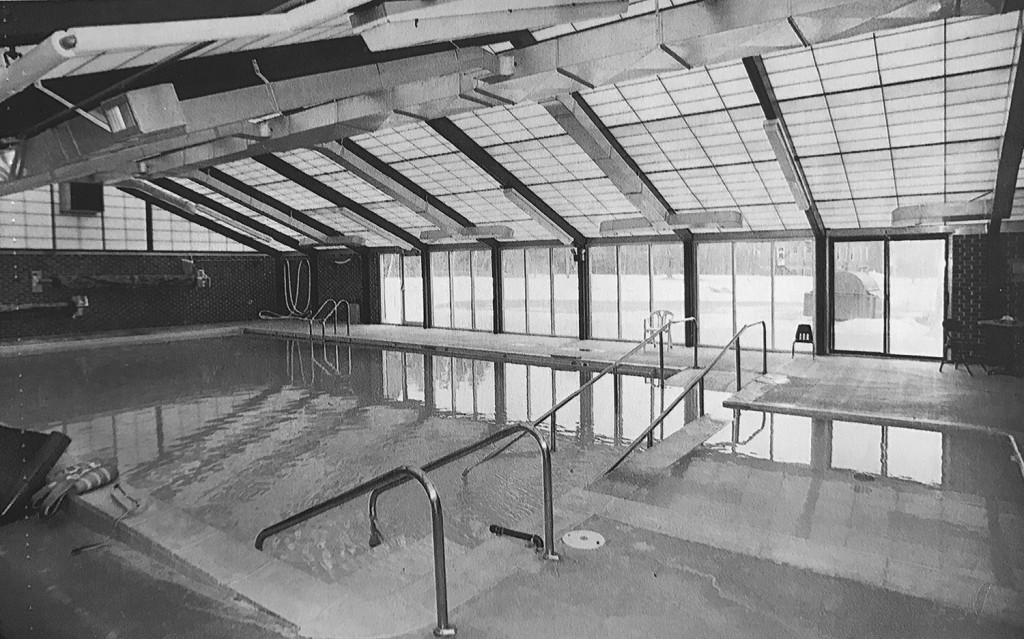 The Pineland Center, by the time it closed in 1996, had added features and services over the years, including a swimming pool for patients.