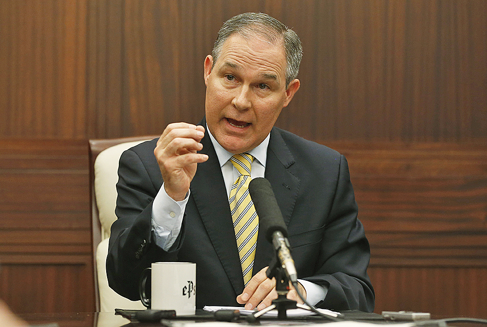 Oklahoma Attorney General Scott Pruitt is among state attorneys general who have worked with energy producers to oppose federal regulation of the oil and gas industry.