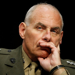 U.S. Marine Gen. John F. Kelly, then-commander of the  U.S. Southern Command  testifies on Capitol Hill in 2013. Associated Press/Molly Riley