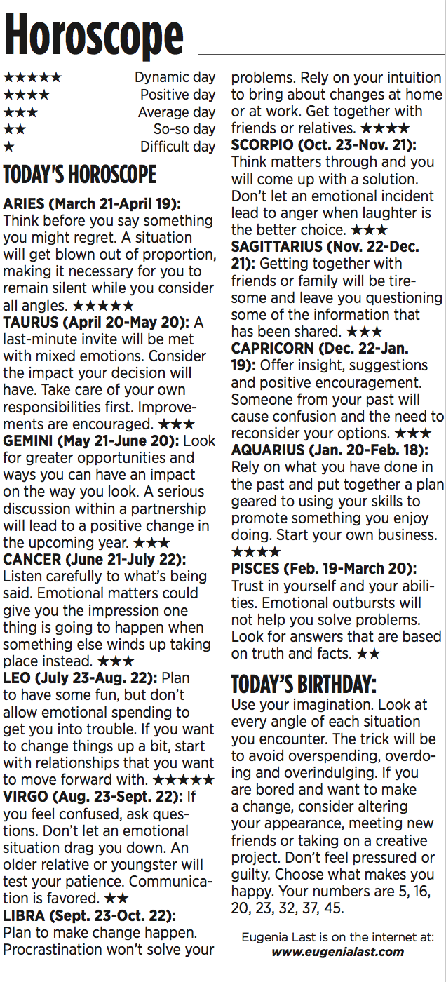 horoscopes monday