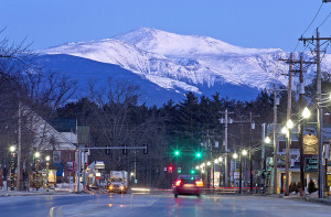 Mount Washington, photographed at dawn, towers above North Conway, New Hampshire in this 2015 photo.Associated Press/Robert F. Bukaty