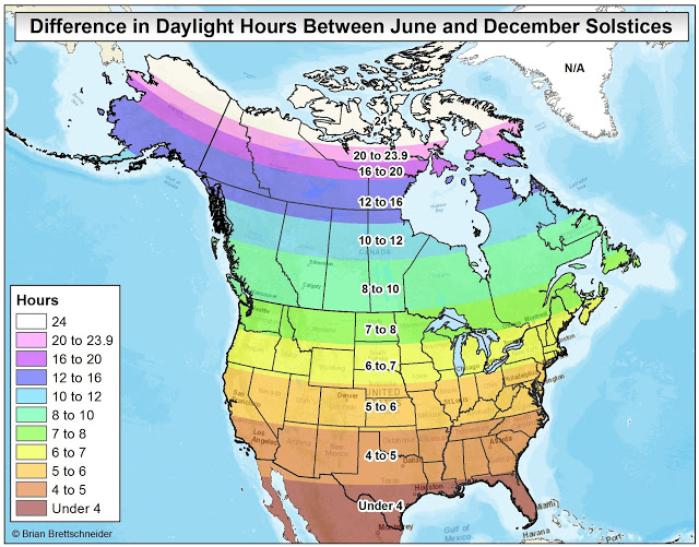 Over 6 hours of daylight has been lost since the third week of June