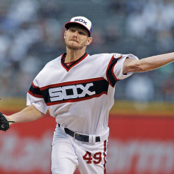 Then-Chicago White Sox starter Chris Sale delivers a pitch during a game against the Minnesota Twins in Chicago on Oct. 2, 2016. Associated Press/Paul Beaty