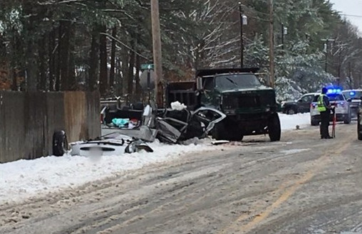 A man was killed in this crash in Gorham on Monday morning.