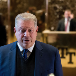 Former Vice President Al Gore speaks to members of the media after meeting with Ivanka Trump and President-elect Donald Trump at Trump Tower, Monday, Dec. 5, 2016, in New York.   Associated Press/Andrew Harnik