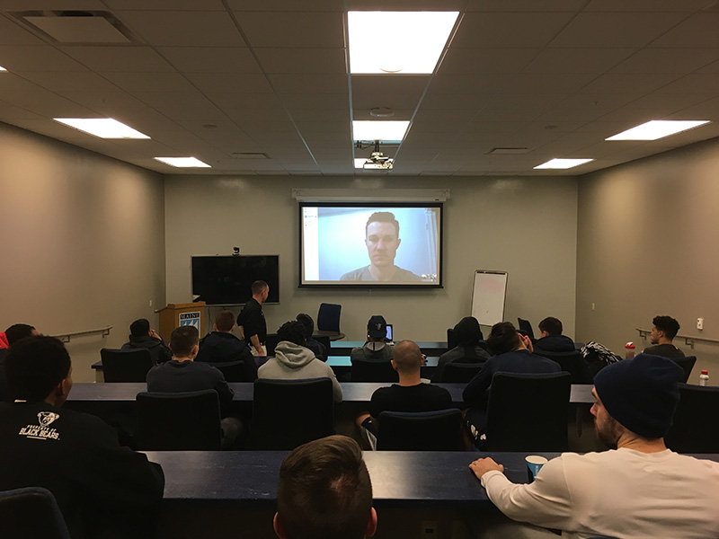 UMaine men's basketball team taking part in Skype discussion Thursday with Chris Mosier, a transgender athlete and member of the U.S. national team in the duathlon.