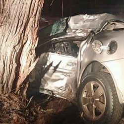 Trey A. James, 19, was killed when he lost control of his 2005 Pontiac Grand Am and hit a tree.  Cumberland County Sheriff's Office photo.