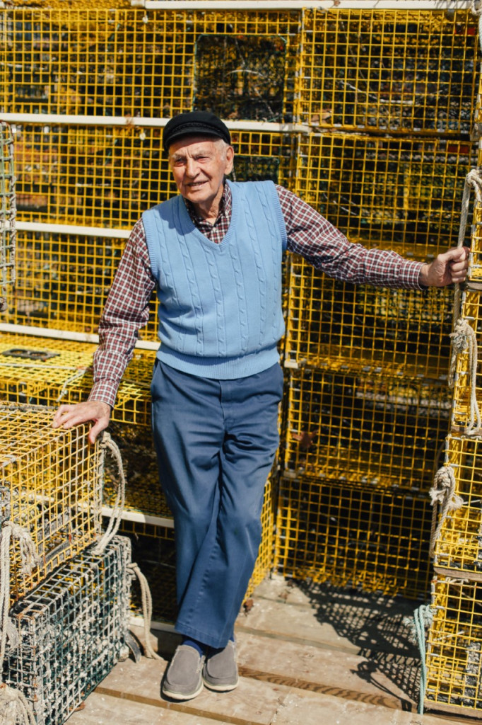 In his segment of the series, Leland Merrill recalls his his many years as a lobsterman and former owner of Widgery Wharf, which was first built in 1777. Photo by Justin Levesque/Courtesy of Galen Koch