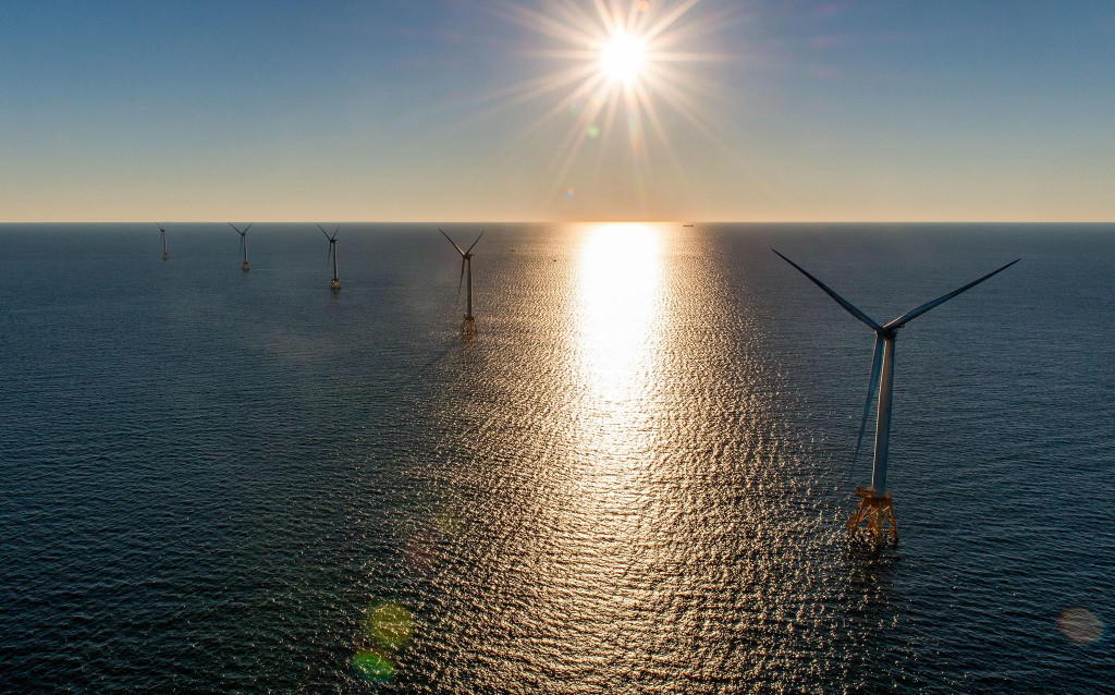 The Deepwater Wind project, which sits off the coast of Rhode Island's Block Island, went into regular operation on Monday.