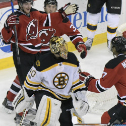 Monday's game against the New Jersey Devils was symbolic of the way things have gone for the Boston Bruins. In a totally winnable game against a depleted opponent, goalie Tuukka Rask got no help from an anemic offense.