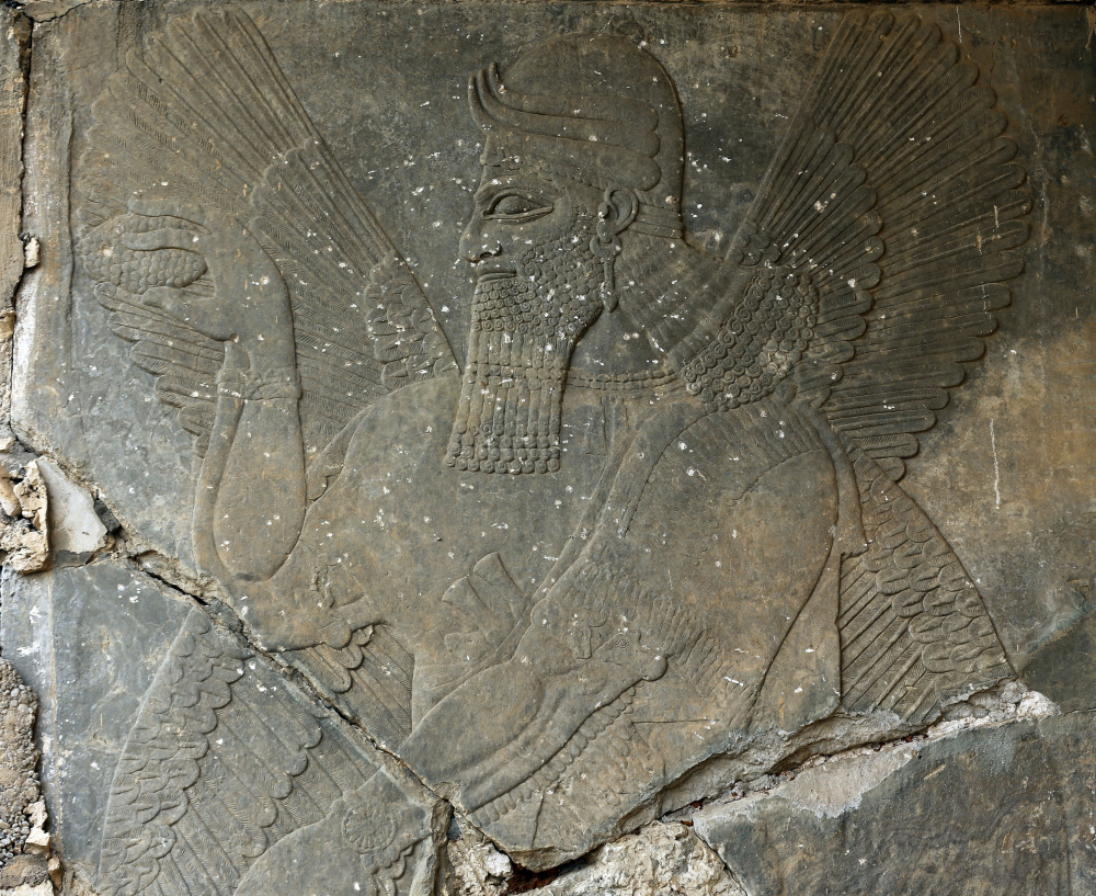 Carved Stone Slab : Ravaged ancient sites in iraq turn to rubble portland