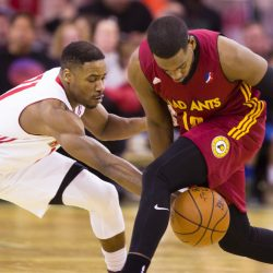 Red Claws guard Demetrius Jackson knocks the ball away from Jordan Lloyd for the Fort Wayne Mad Ants during Sunday's game at the Expo. Maine won, 111-103.