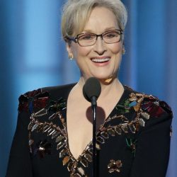 Actress Meryl Streep accepts the Cecil B. DeMille Award during the 74th Annual Golden Globe Awards ceremonies at the Beverly Hilton Hotel in Beverly Hills, Calif., on Sunday night.