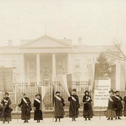 A century ago, the National Women's Party went to Washington to protest a government that would not recognize their human rights. It's the same struggle that is going on today.