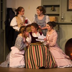Jericah Jo Potvin as Amy, Angela Libby as Marmee, Gabriella Salce as Beth, Jennifer Kennedy as Meg and Shannon Oliver as Jo.