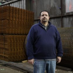 Vince Pappas, owner of Stone Steel Corp., poses in his Baltimore warehouse. Small businesses hope some high-profile regulations get scrapped by Donald Trump.