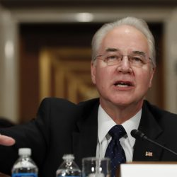 Health and Human Services Secretary-designate, Rep. Tom Price, R-Ga., testifies Wednesday in Washington. Associated Press/ Carolyn Kaster