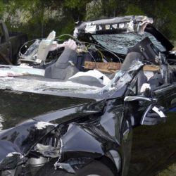 Former Navy Seal Joshua Brown, 40, of Canton, Ohio, was killed last May in Florida when this Tesla Model S crashed into a turning tractor-trailer while in self-driving mode.