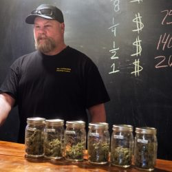 Derek Wilson talks about his new business, The Cannabis Healing Center, on Thursday in Hallowell.