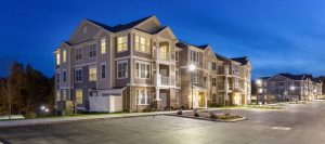 Devine Capital LLC, which built a 280-unit luxury apartment complex, above, in East Lyme, Conn., is planning a similar project, built in phases, on Haigis Parkway in Scarborough.