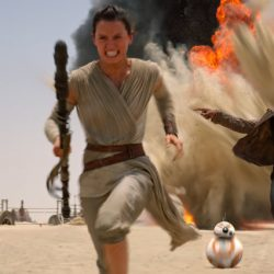"""This scene is from """"Star Wars: The Force Awakens."""" The Walt Disney Co. says the title for the next chapter in the Skywalker saga is """"Star Wars: The Last Jedi."""" The film is to be released on Dec. 15."""
