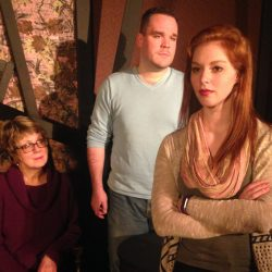 "Cheryl Reynolds, left, Ryan Lane and Hope Milne in ""Kiss the Moon, Kiss the Sun."""