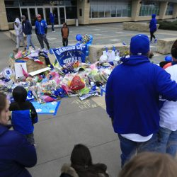 Fans make a memorial Sunday for Kansas City Royals pitcher Yordano Ventura at Kauffman Stadium in Kansas City, Mo. Ventura, 25, died in a car crash.