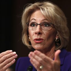 Education Secretary-designate Betsy DeVos testifies on Capitol Hill in Washington last week at her confirmation hearing before the Senate Health, Education, Labor and Pensions Committee. U.S. Sen. Angus King, I-Maine, says he will oppose her appointment.
