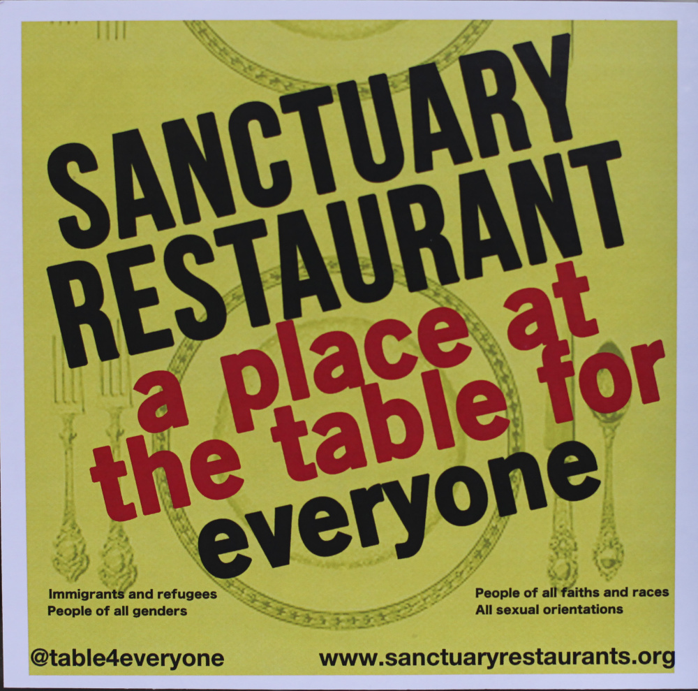 The Sanctuary Restaurants Movement was established to protect immigrant workers from discrimination and harassment.