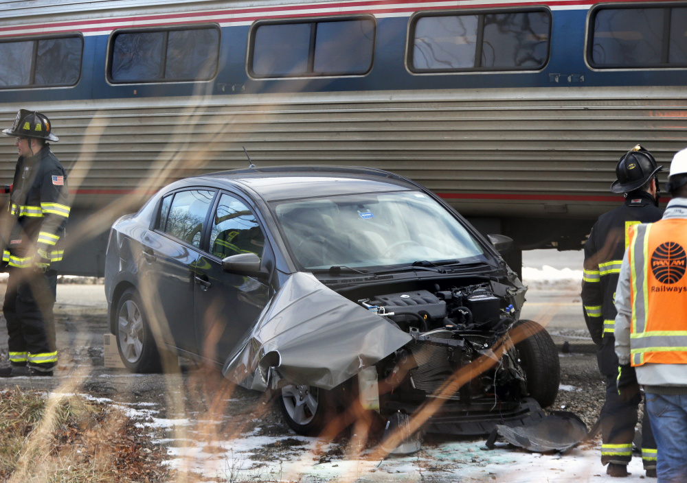 Police say Derso Mekonen, 56, was hit by Amtrak's Downeaster after he drove around traffic stopped on Brighton Avenue and tried to beat the crossing gates on Jan. 27.