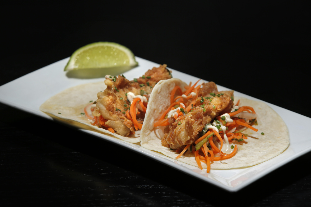 Fish tacos at Row 34 in Portsmouth, N.H.