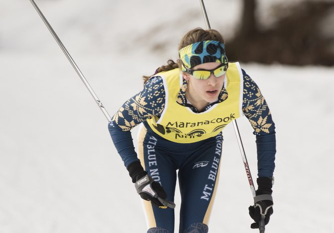 Mt. Blue's Julia Ramsey competes in the Maranacook Wave race on Jan. 21 in Readfield. She followed up her strong showing there with another one at the annual Sassi Memorial race Saturday.