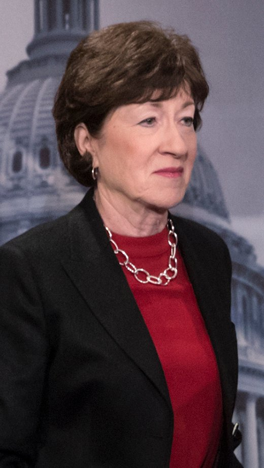 Sen. Susan Collins is one of a few Republicans now resisting some of the president's agenda.