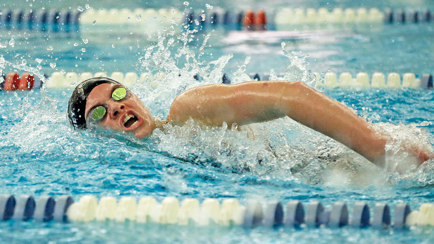 Caroline Mahoney was part of the Cape Elizabeth relay team that set a school – and pool – record in the 400-yard freestyle relay Thursday, with a time of 3:40.42.