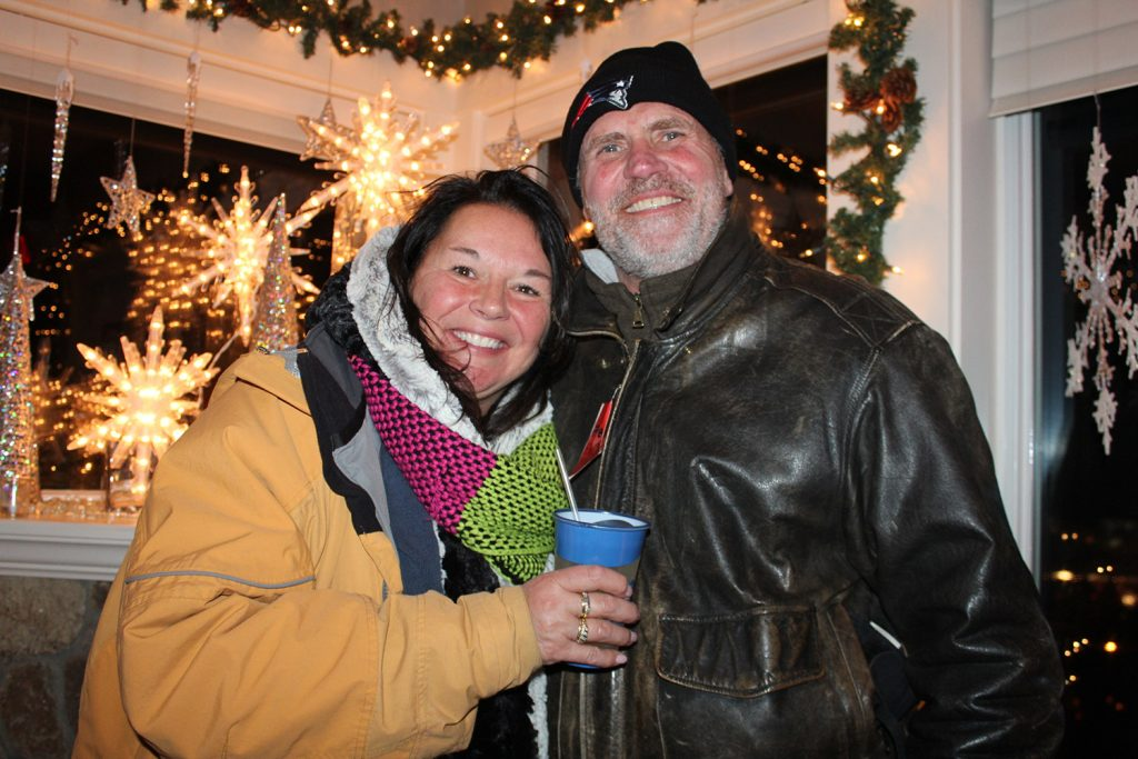 Jeanne and Peter Leblanz at Kennebunkport's Fire & Ice event.