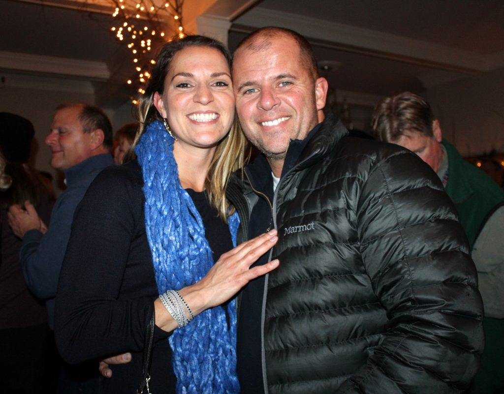Courtney Binnette and Christopher Lessard of Old Orchard Beach were part of the crowd at Fire & Ice weekend.