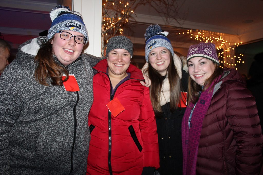 Kate St. Peter of Saco, Meg Altieri of Saco, Molly Roberts of Biddeford and Alyssa Choudhry of Biddeford enjoyed the Fire & Ice festivities.