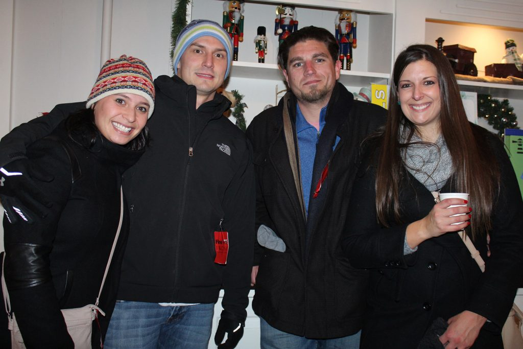 Andrea Rogers of Kennebunk, Kyle Baker of Kennebunk, Kyle Beliveau of Westbrook and Jess Handcock of Biddeford celebrated at Fire & Ice hosted by the Nonantum Resort.