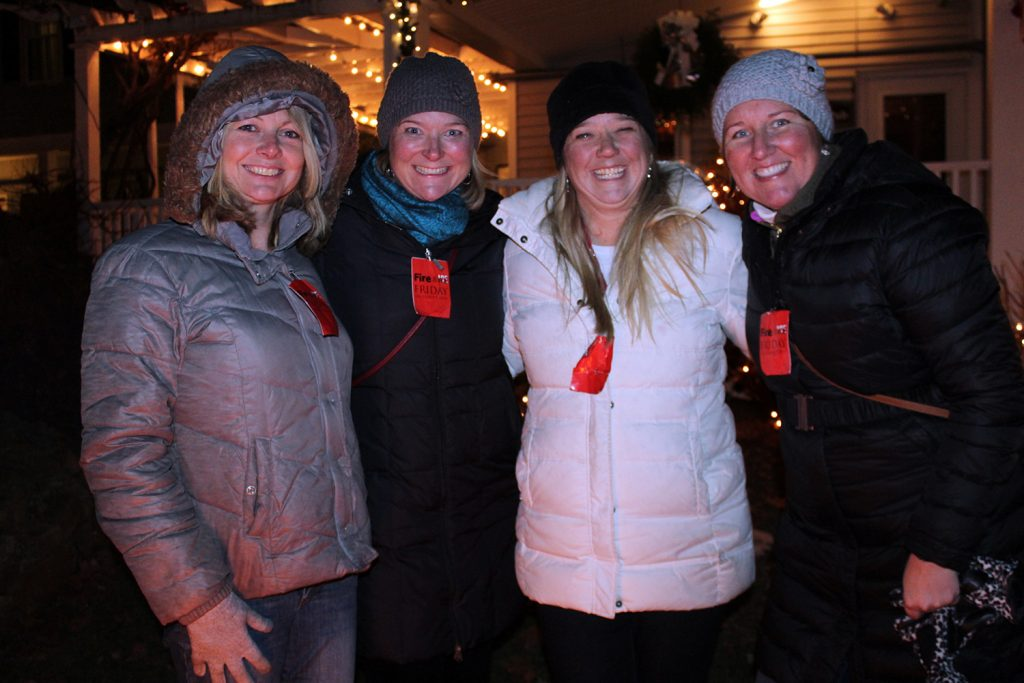 Fire & Ice in Kennebunkport brought out the crowds in December, including Jennifer Pomerleau, Sarah Burnham, Sharon Williams and Christin Burnham.