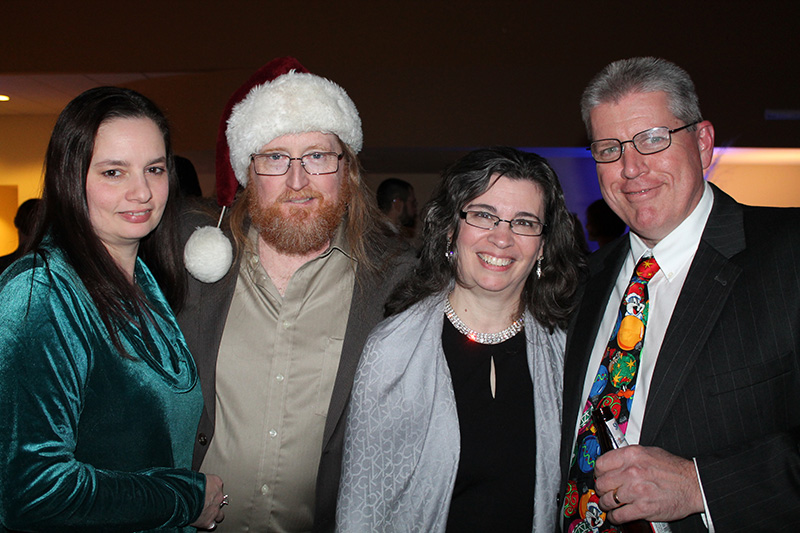 Attending the Dec. 9 benefit for Rippleffect were Ann Marie and Pat Roche of Gilmington, N.H., with Lorie Ann and Jim Dickson of Franklin, Mass.