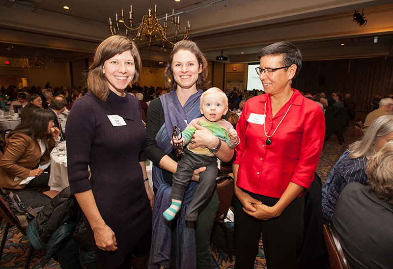 NOV. 1: Tyler Kidder, Beth Weisberger and Eliza Townsend at the Maine Community Foundation hosted its inaugural summit.