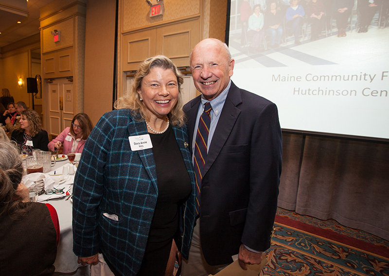 NOV. 1: Dora Anne Mills, Vice President for Clinical Affairs, University of New England; and Michael Brennan, former Portland mayor at the Maine Community Foundation's summit on white privilege.