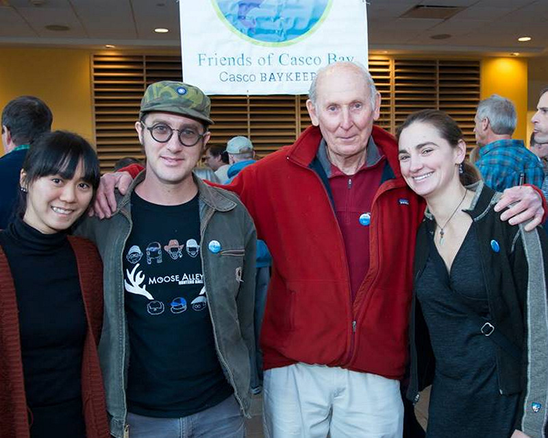 O'Chang Studio's Chun-hua Chang and Andy O'Brien, Maine College of Art instructors Doug Vollmer and Deb Debiegun at the Wild & Scenic Film Festival.
