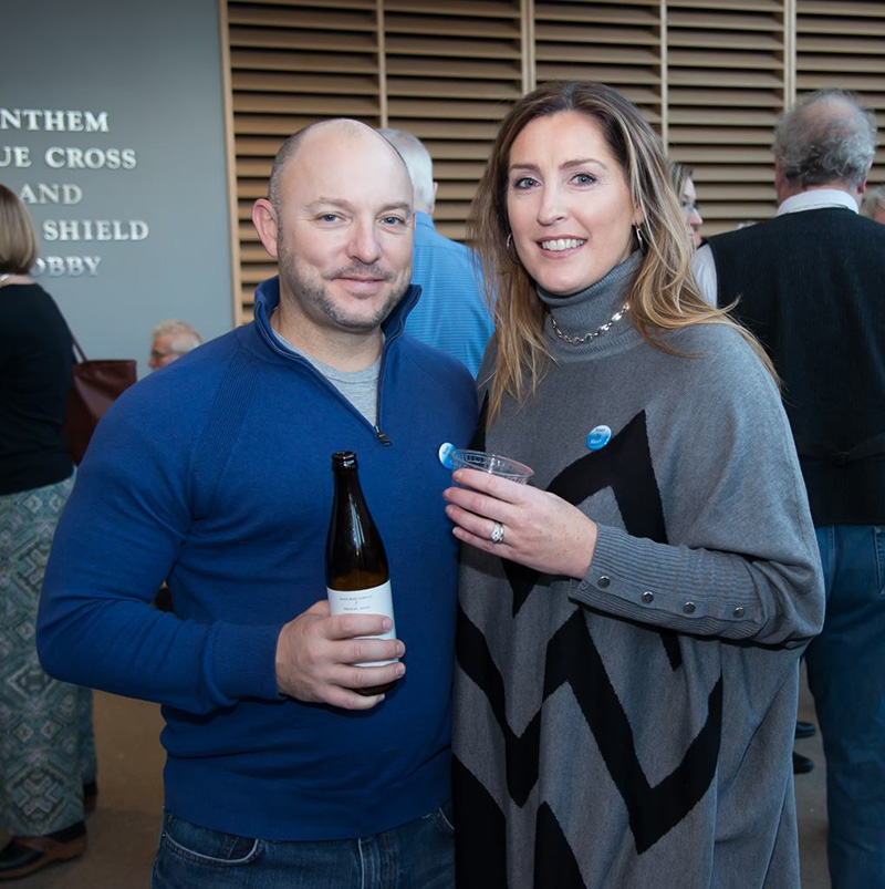 NOV. 12:  Pete and Kelly Dufour of Portland at the film festival to support to support Friends of Casco Bay.