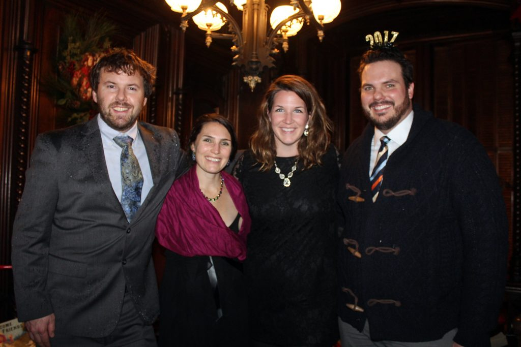 Dave and Michaela Moody of Cumberland with Erin Anderson and Evan White of Saco at Victoria Mansion.