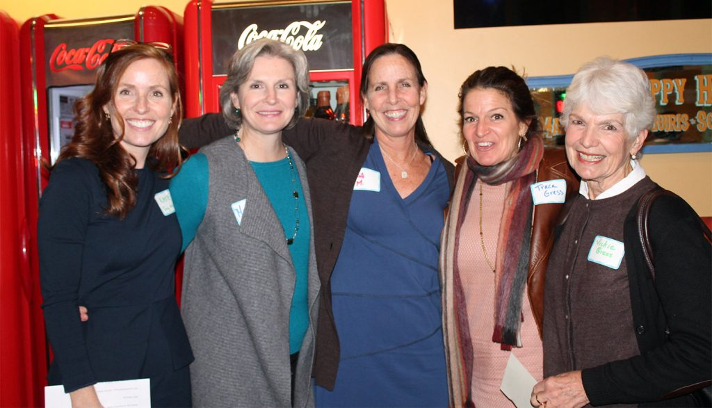Portland Education Foundation Executive Director Kate Snyder, Maureen Clancy, Lisa Merchant, Traca Gress, Vicky Gress took part in the Portland Education Foundation's Fall Meet & Greet.
