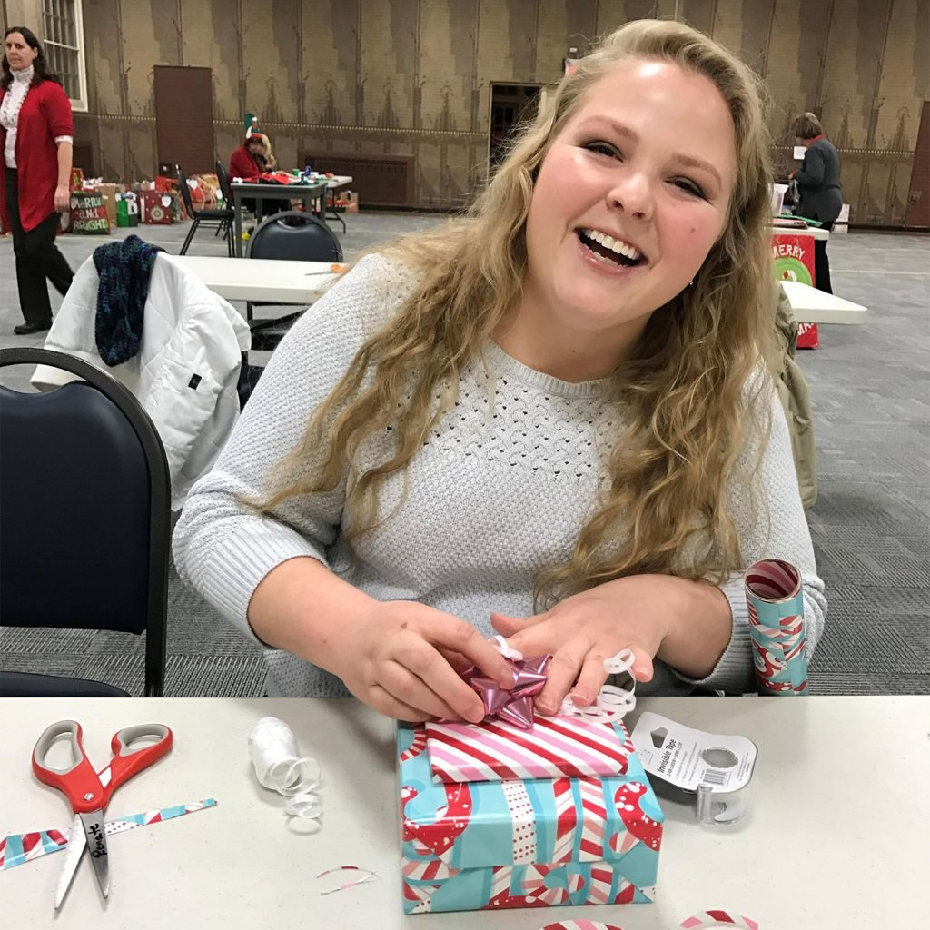 Jacquelyn Harper, service coordinator for Home Instead Senior Care, which runs the Be a Santa to a Senior program in Gorham. The annual program brings cheer, companionship and gifts to aging adults in Cumberland County who may otherwise be alone during the holidays.